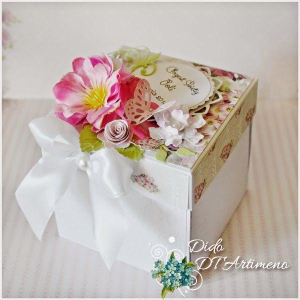 Blog sklepu Artimeno: Kołysanka dla maluszka - exploding box na chrzest....