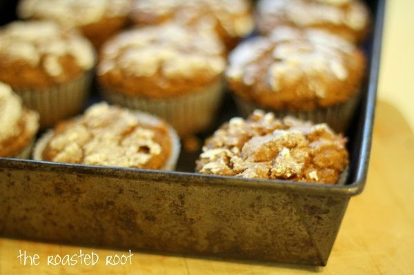 ... made me some of these delicious looking Gluten-Free Pumpkin Muffins
