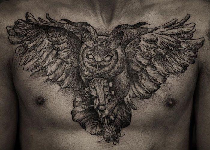 125 Best Owl Tattoos For Men Cool Designs Ideas 2020 Guide Owl Tattoo Mens Owl Tattoo Owl Tattoo Chest