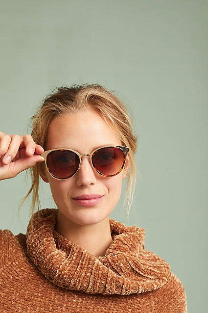 04a6a462695 Anthropologie Ombre Cat-Eye Sunglasses - pairing these with jeans and comfy  Keds for a quick airport look. Affiliate link.