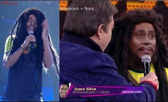 Ícaro Silva Chora ao Interpretar Bob Marley no Domingão do Faustão 11/06/2017