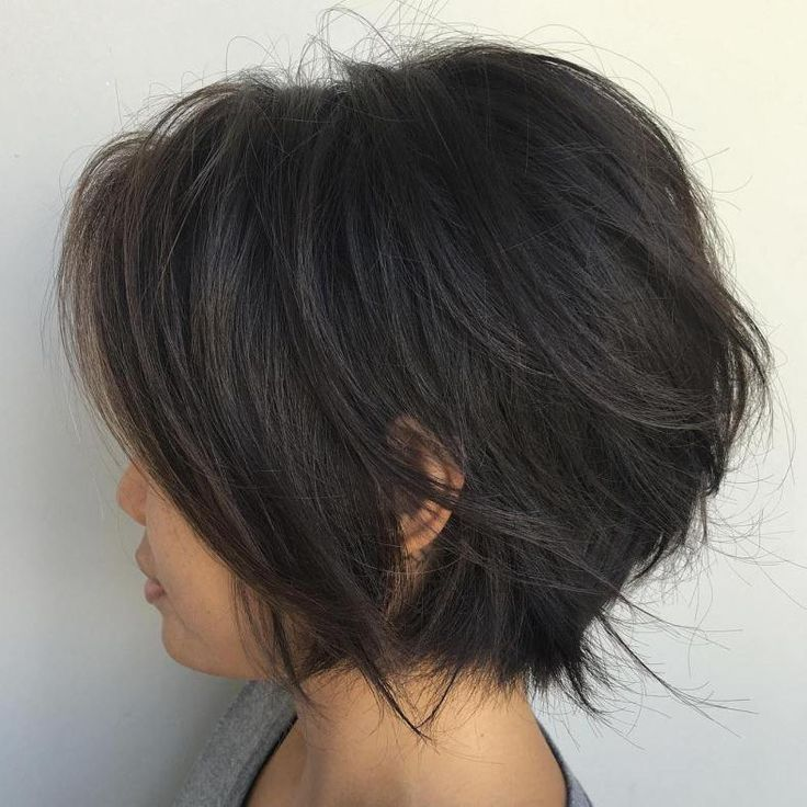 Chin-Length Feathered Bob
