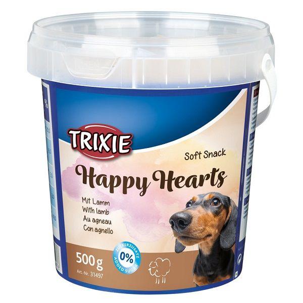 Trixie Soft Snack Happy Hearts 500g Dog Food Treats Hugglepets Snacks Tasty Ingredients Dog Snacks