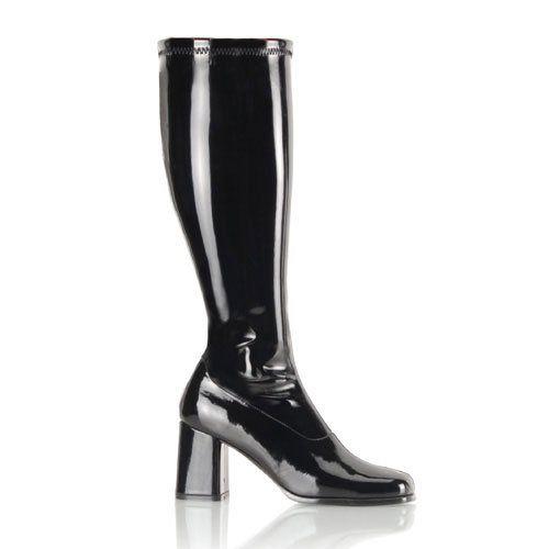 GOGO-300WC, Schlichter Stretch-Stiefel schwarz (weiter Schaft) Absatz 7,6 cm - http://on-line-kaufen.de/pleaser/gogo-300wc-schlichter-stretch-stiefel-schwarz-7-6-2