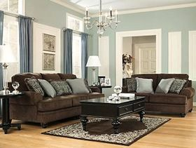 What Colour Paint Goes With Brown Leather Sofa