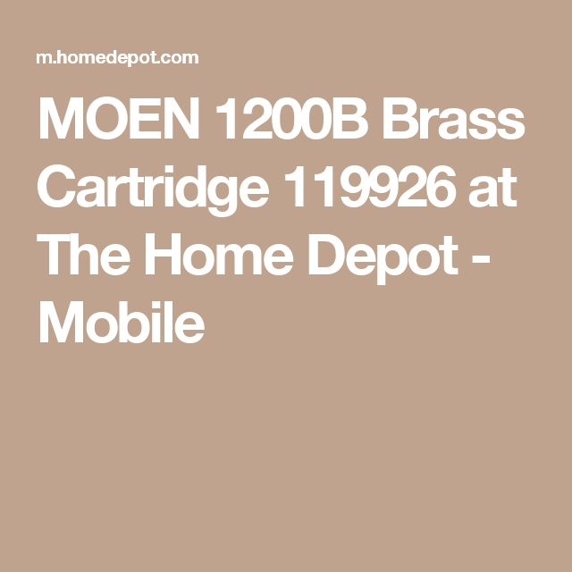 MOEN 1200B Brass Cartridge 119926 at The Home Depot - Mobile