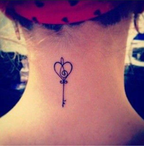 Small Key Tattoo: Cute Small Key Neck Tattoo #ink #YouQueen #girly #tattoos