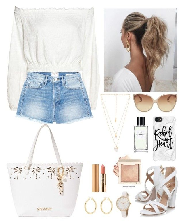 """Untitled #9"" by hannaklar on Polyvore featuring Linda Farrow, Frame, Miss KG, Love Couture, Casetify, Isabel Marant, Natalie B, Betsey Johnson and Axiology"