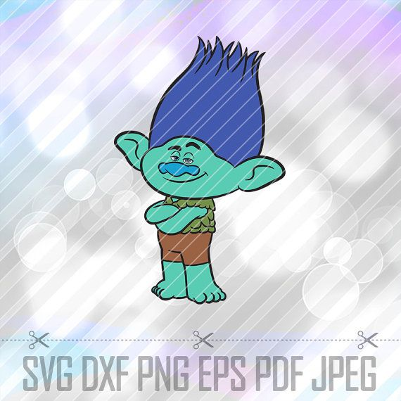 Trolls Branch SVG DXF Png Eps Pdf Studio Vector by