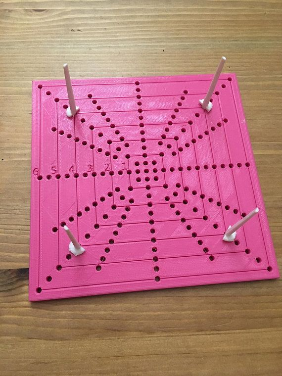 3d Printed Blocking Board For Crocheting Up To 6 Inches We Can Make