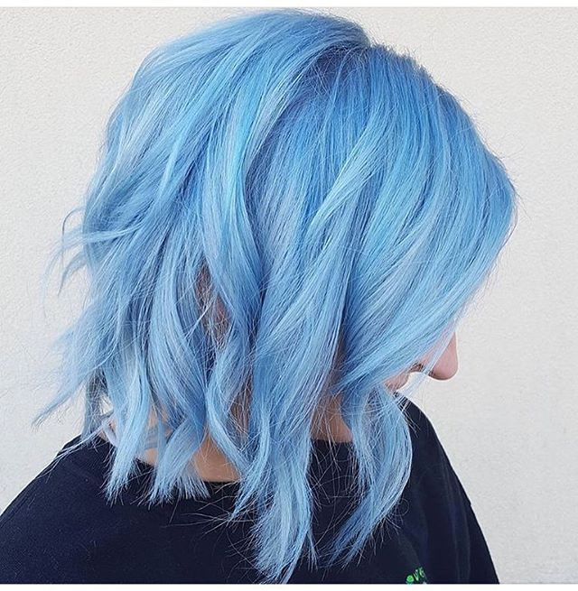 vibrant blue hair color powder and smoke lindsayb202 is the artist pulp riot - Blue Color Hair
