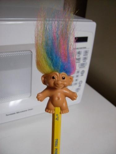 Fuzzy Troll Pencil Topper
