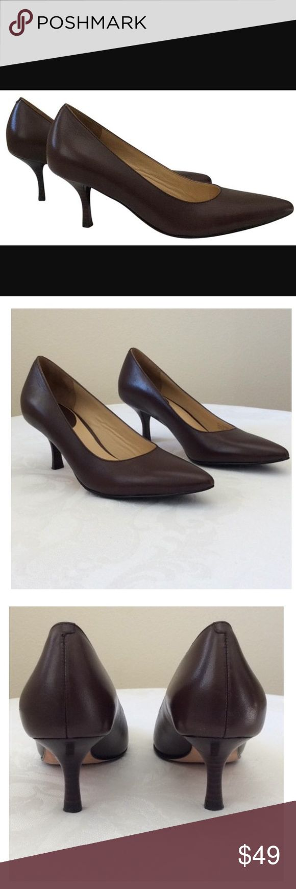 "Cole Hann Nike Air super comfy point toe pumps 👠 These Cole Hann Nike ""Air Rea"" pointy toe pumps are classically styled and supremely comfortable ! Chestnut brown, size 7.5. New- some very minor scuffs on the soles from being worn in the store (see photos). Cole Hann  Shoes Heels"