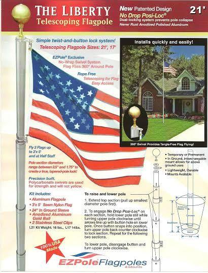 Liberty Telescoping Flagpole