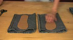 chaussons avec un vieux jean - c'est (PAS) moi qui l'ai fait
