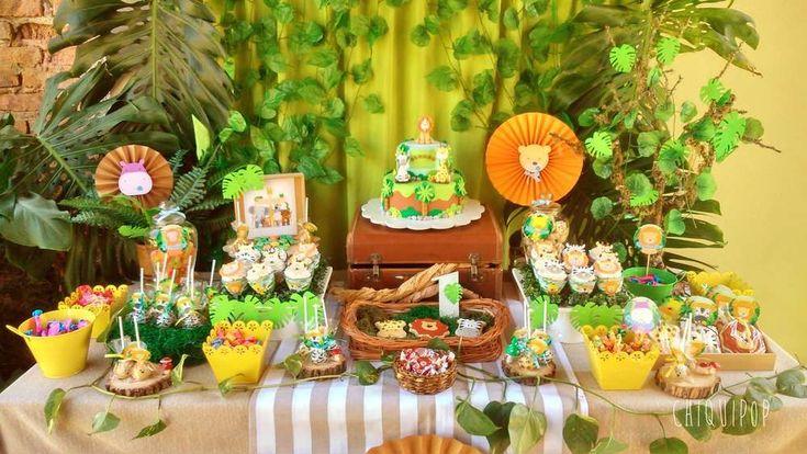 Ejemplo de candy bar para fiesta temática de animales. Está y otras ideas geniales para tu fiesta las puedes ver en nuestro blog. http://blog.articulos-fiestas-infantiles.es/ideas-cumpleanos-animales-la-selva-safari/ #fiestadelaselva #fiestadesafari #fiestastematicas #animales #globosdeanimales #cumpleaños #cumpleañosinfantil #niños #ideasfiesta