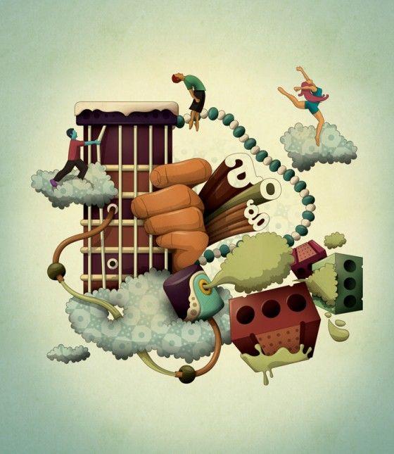Leandro Lima - Illustratore brasiliano dallo stile surreale