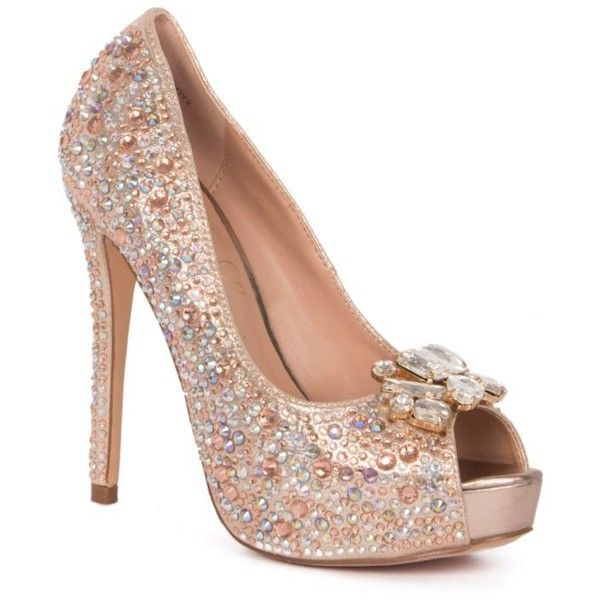 Lauren Lorraine Gold Heel Shoes