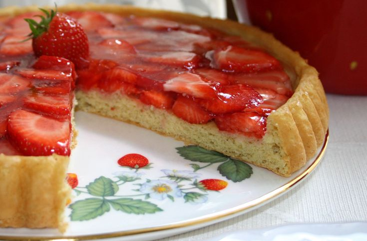 images of strawberries recipes | Strawberry Flan