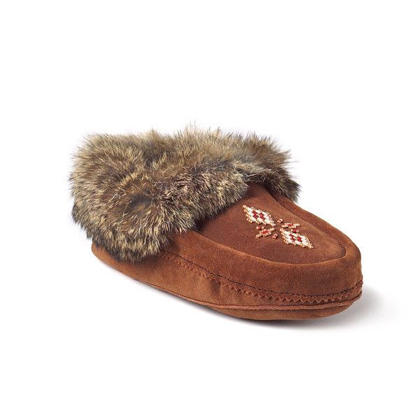 Tipi Moccasin by the Mintobah company that guarantees their products are made by Aboriginal-owned companies! Support those who created this craft!