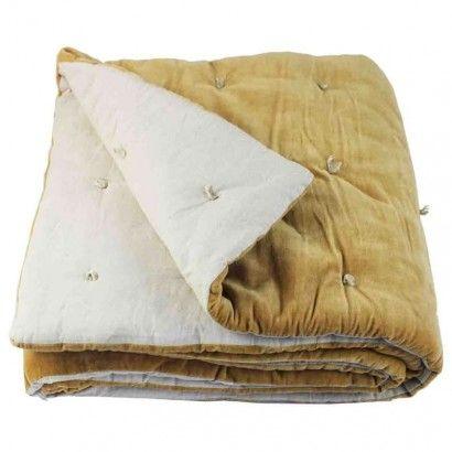 Bout de lit Vague en velours de coton - En Fil d'Indienne