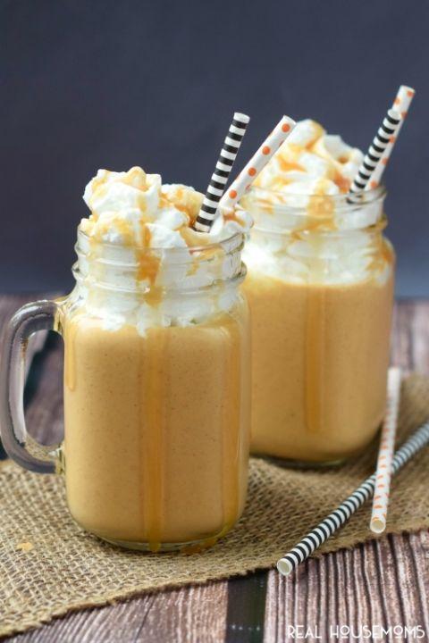 This Boozy Pumpkin Caramel Milkshake is like a little kid treat for ...