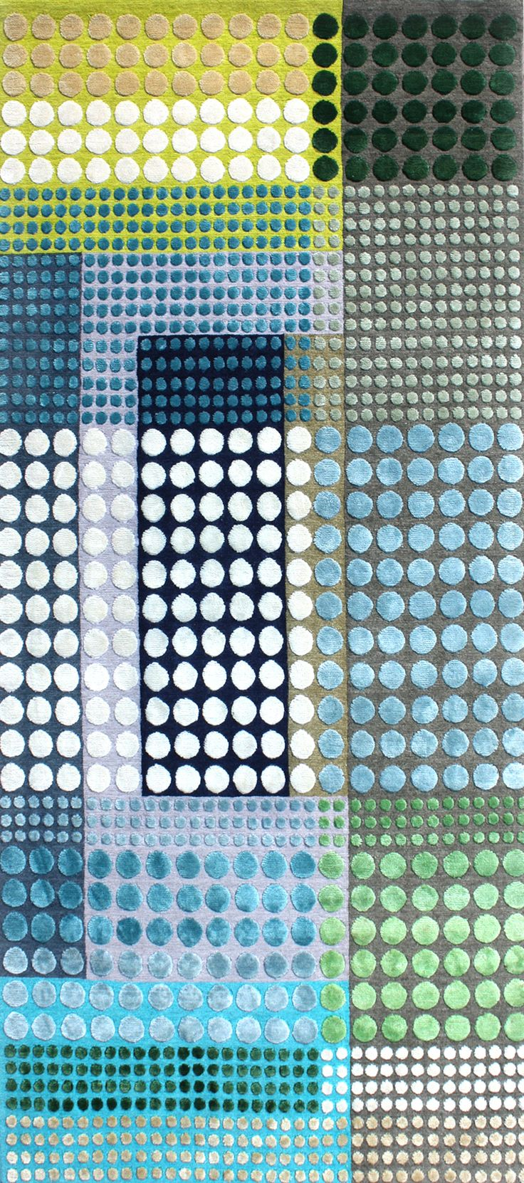 geometric : spots : Kerula Rug designed by Margo Selby - Hand-knotted