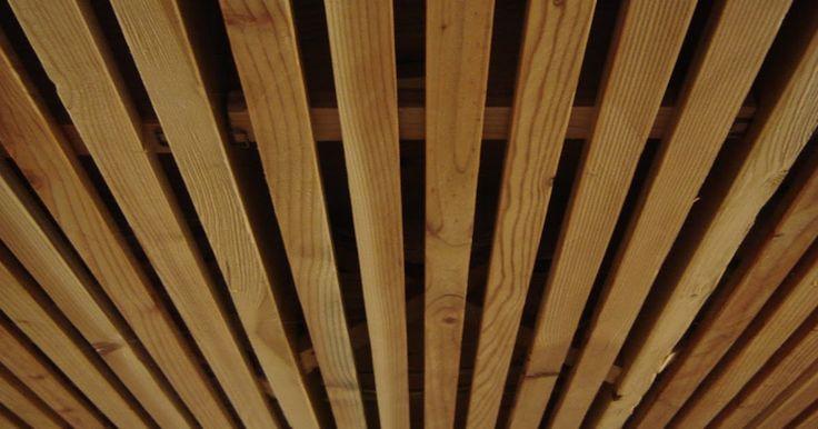 Wood Slat Solution for Basement Ceiling