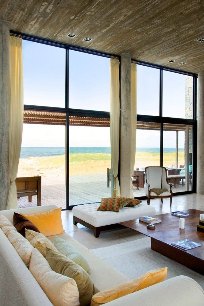 La Boyita House Living Room Views: Big Window, Living Rooms, Dreams Houses, Idea, Beaches Home, Beach Houses, The View, Interiors Design, Beaches Houses