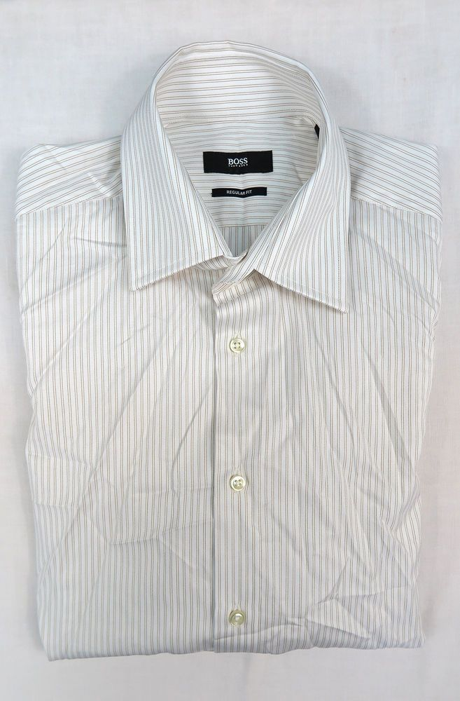 df813476 HUGO BOSS MENS REGULAR FIT SHIRT Size 42 / 16 #fashion #clothing #shoes  #accessories #mensclothing #shirts (ebay link)