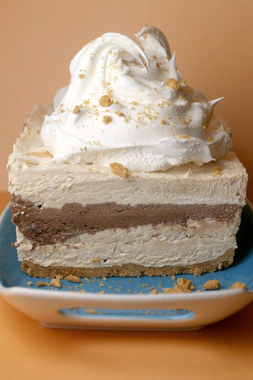 Peanut Butter + Chocolate + Cool Whip = A little slice of heaven.I think I'll change the crust to chocolate.