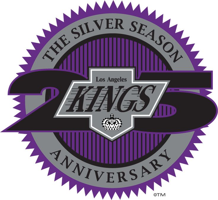 Los angeles kings anniversary logo on chris creamers sports logos page sportslogos a virtual museum of sports logos uniforms and historical items