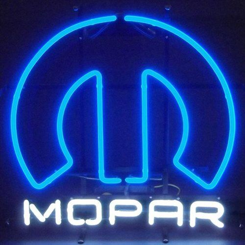 Mopar Emblem Neon Sign