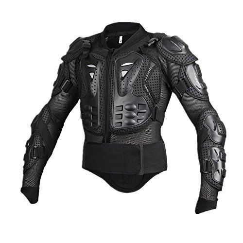 Motorcycle Full Body Armor Protective Jacket Guard ATV Motocross Gear Shirt (XXL, black). For product info go to:  https://www.caraccessoriesonlinemarket.com/motorcycle-full-body-armor-protective-jacket-guard-atv-motocross-gear-shirt-xxl-black/