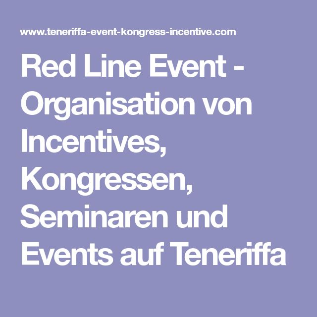 Red Line Event - Organisation von Incentives, Kongressen, Seminaren und Events auf Teneriffa