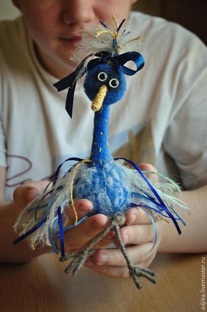 Игрушки животные, ручной работы. Ярмарка Мастеров - ручная работа. Купить Синяя птица (самка белобрюхого блюбёрда) Виолетта. Handmade.