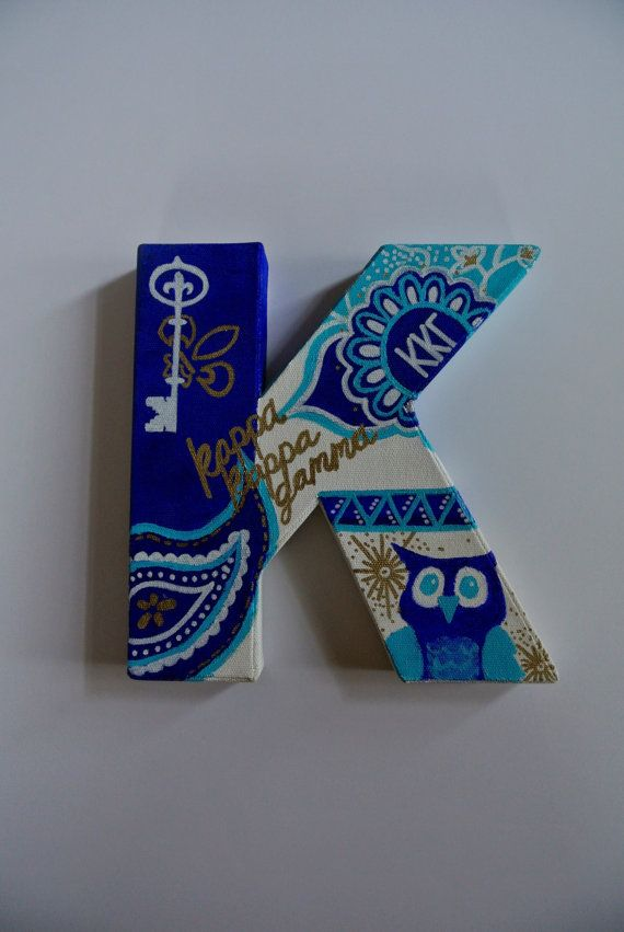 Kappa Kappa Gamma Canvas Letter Painting by nicolehragyil on Etsy @kappakappagamma