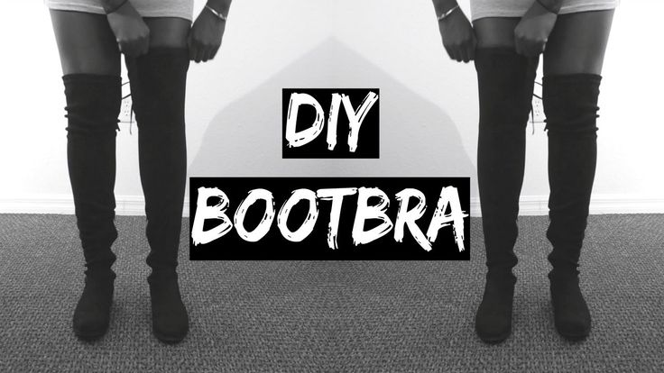 DIY: HOW TO KEEP YOUR OVER THE KNEE BOOTS FROM FALLING/SLOUCHING | Under...