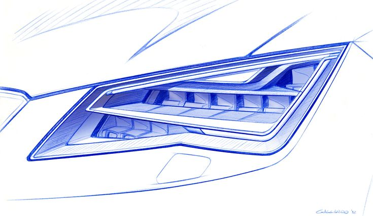 SEAT Leon ST - Headlight Design Sketch