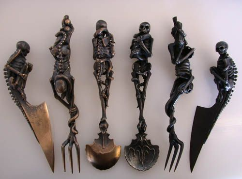 a cutlery set and matching carving set (forthcoming design) from www.raven-armoury.co.uk