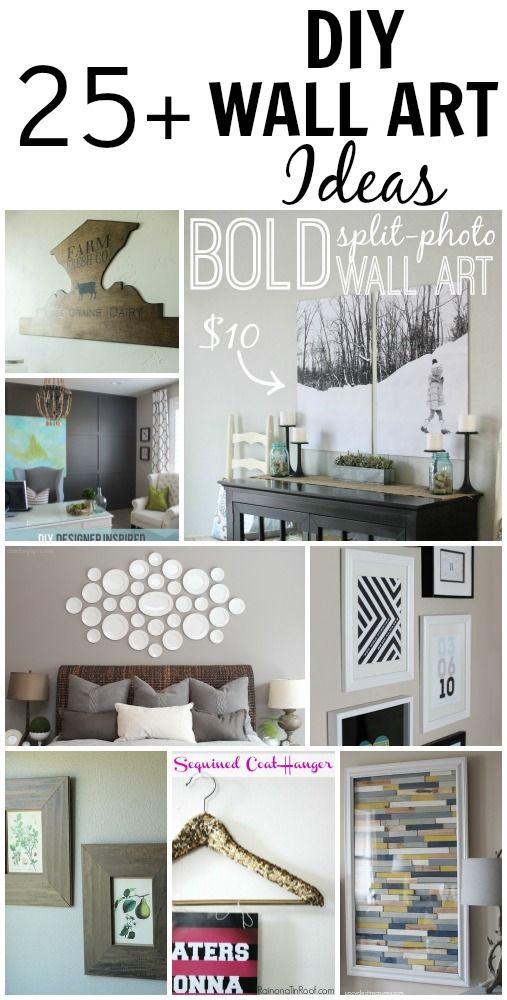 25+ DIY Wall Art Ideas via Making Home Base