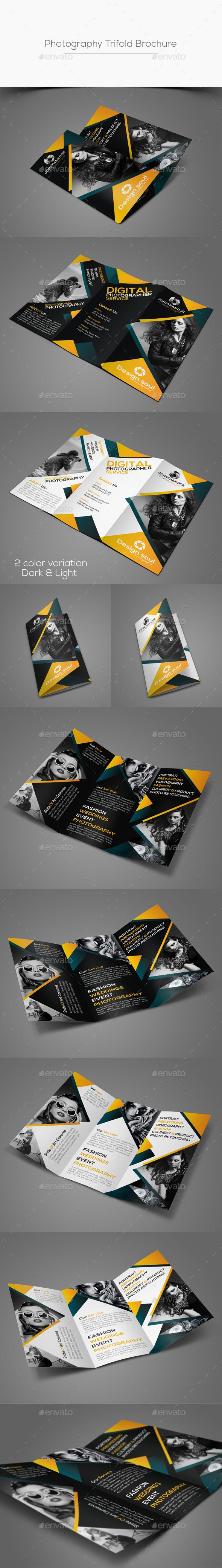 Photography Trifold Brochure Template PSD #design Download: http://graphicriver.net/item/photography-trifold-brochure/14328217?ref=ksioks