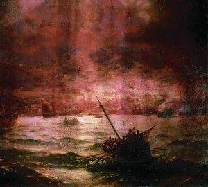Гибель Помпеи, Айвазовский - описание картины