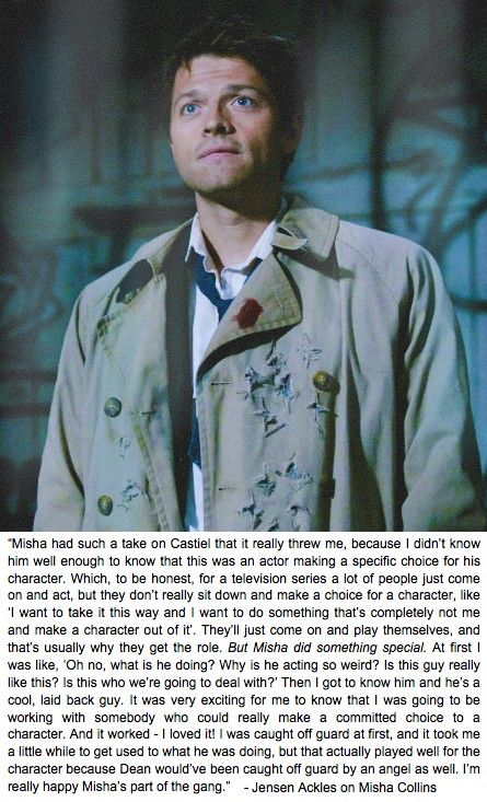 Jensen quote about Misha Collins
