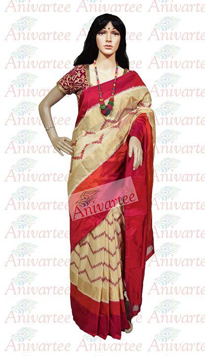 Ikat pure silk saree info@anivartee.com +91 88612 55270 https://www.facebook.com/anivartee