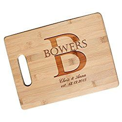 Custom Newlywed Gift Cutting Board, Engraved Wedding Gift for Couples, Engagement Gift - JS02