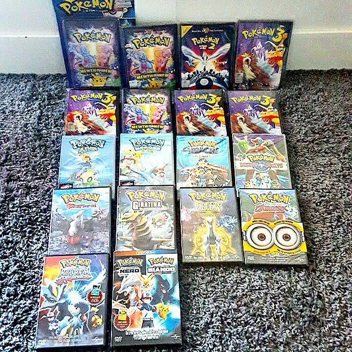 All my italian DVD of Pokémon movies