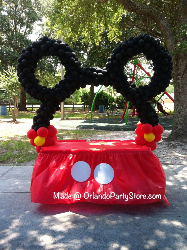 Mickey Ear Arch Balloonart Mickey Balloon Art