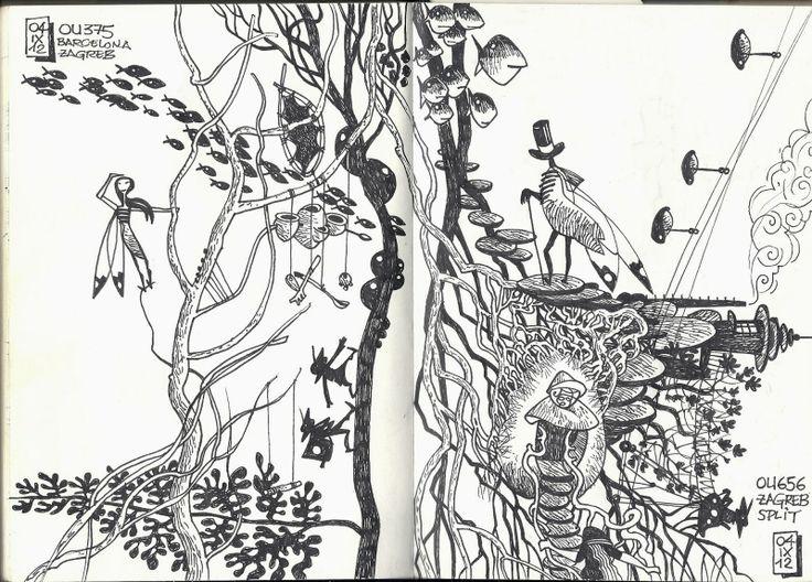 de vuelta con el cuaderno: Dibujando en vuelo