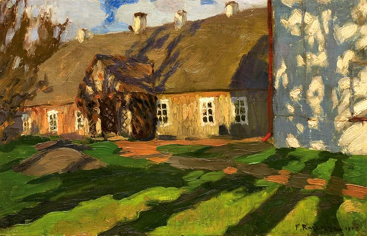Ferdynand Ruszczyc (Polish, 1870-1936) | Bohdanów in the Spring, 1902